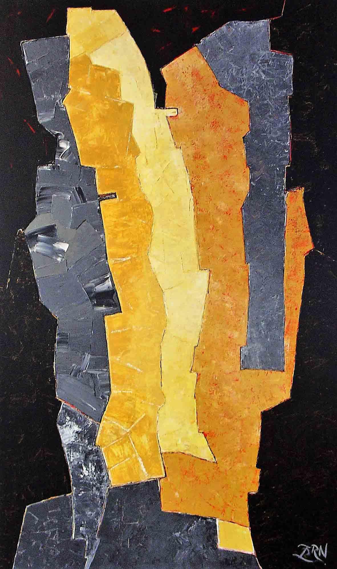 Zussen, Expressionistich Abstract, Wim Zorn Kunstenaar